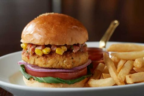 Crab and Corn Burger