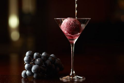 The Oak Door Bar Kyoho grape champagne sorbet