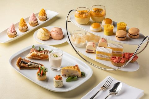 Peach Mango afternoon tea The French Kitchen Grand Hyatt Tokyo eyecatch