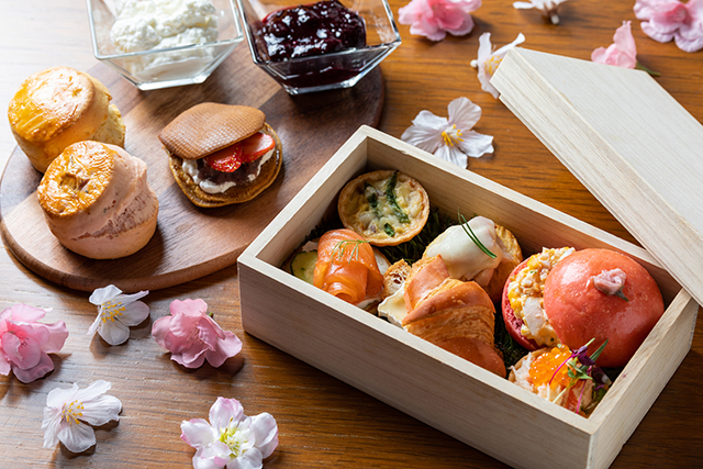 Sakura Afternoon tea Savory The French Kitchen Grand Hyatt Tokyo
