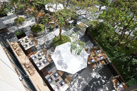フレンチ キッチン テラス 俯瞰