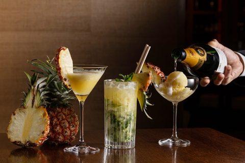Seasonal cocktails peach pine