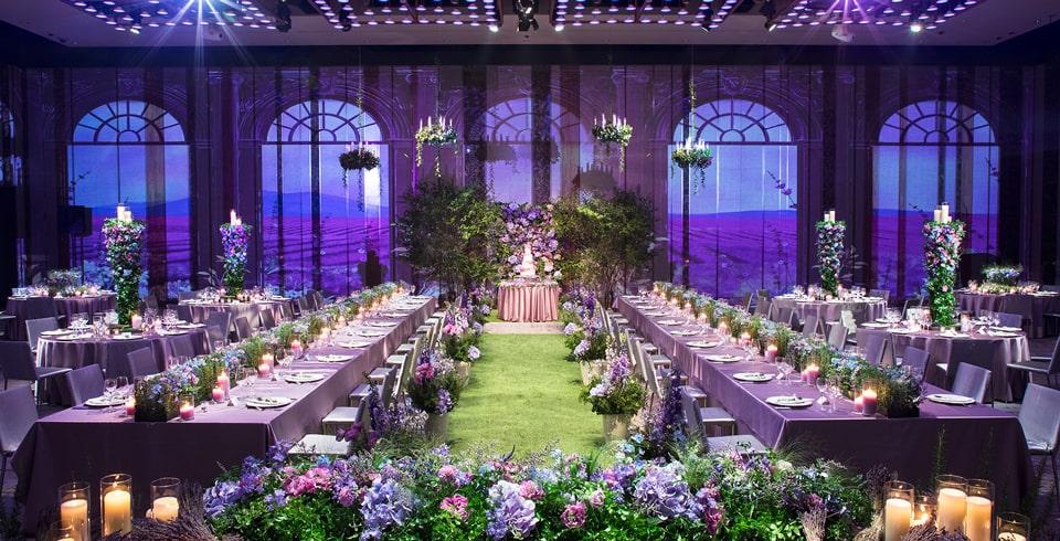 グランドハイアット東京のウエディングスタイル「ROMANCE ラベンダーガーデン」披露宴会場