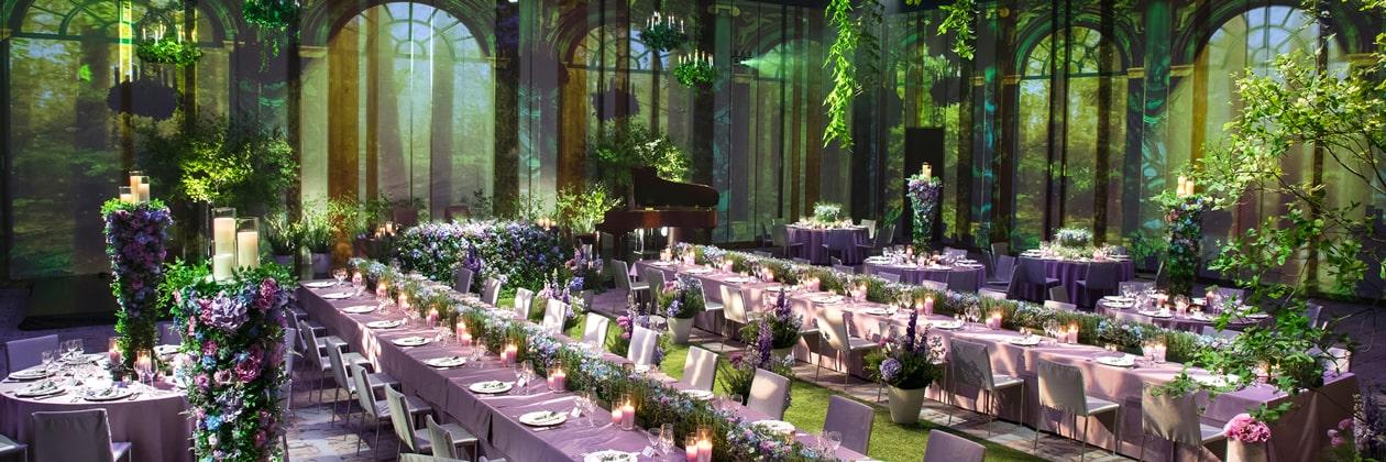 グランドハイアット東京のウエディングスタイル「ROMANCE」披露宴会場